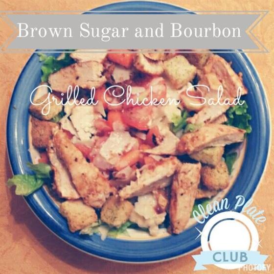 Brown Sugar and Bourbon Grilled Chicken Salad
