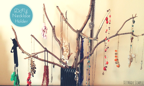DIY Rustic Necklace Holder