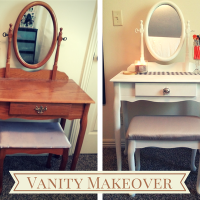 Giveaway and Reveal: Vanity Makeover