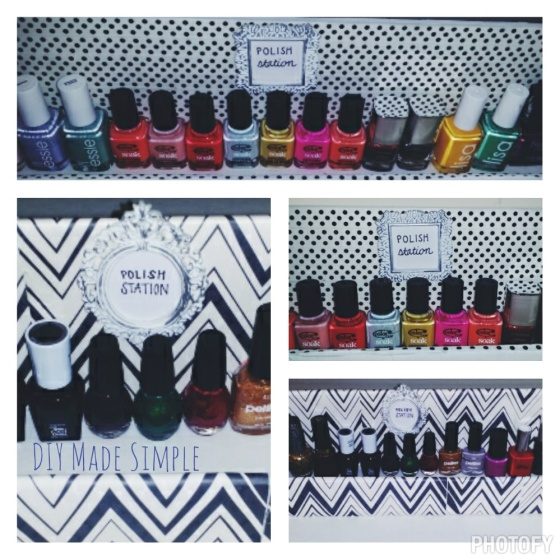diy nail polish station