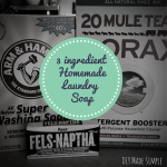 how to make homemade laundry soap