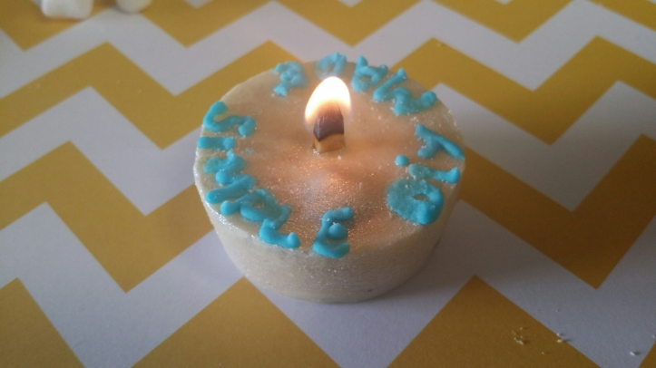 lighted edible candle