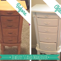 Jewelry Stand Makeover And Plutonium Paint Giveaway