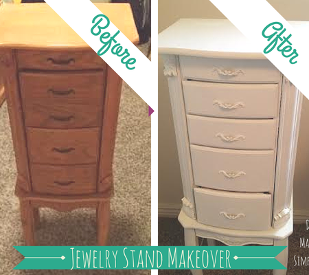 jewelry stand makeover