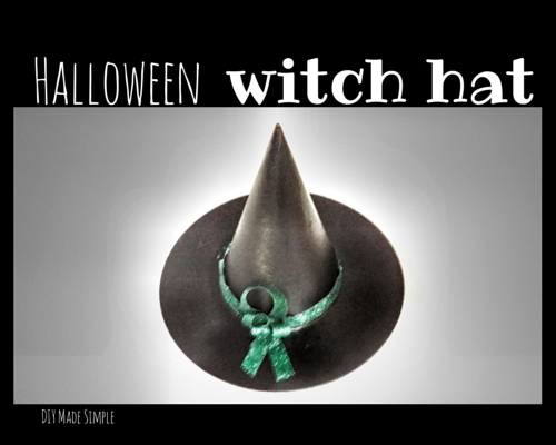 easy halloween witch hat