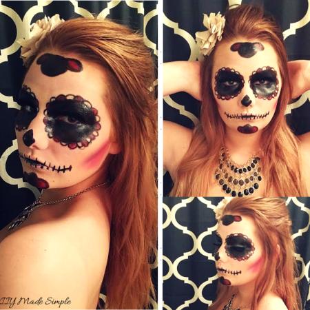 easy sugar skull tutorial