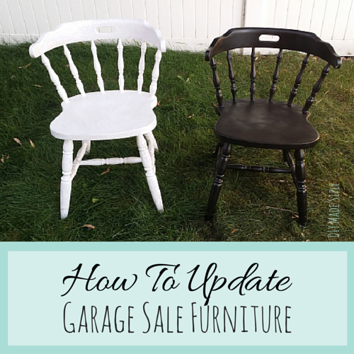 How To Update Garage Sale Furniture