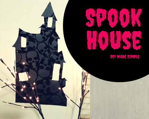 Easy to make skull spook house