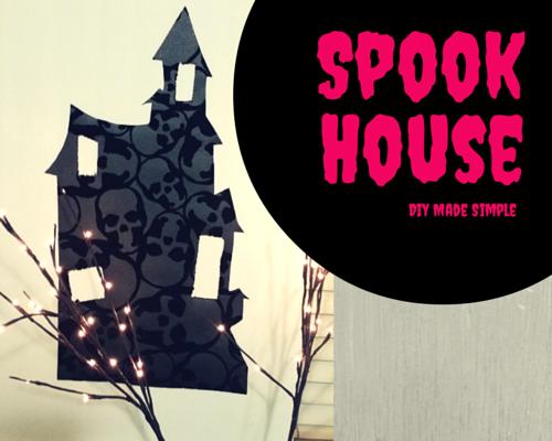 Easy to make skull spook house