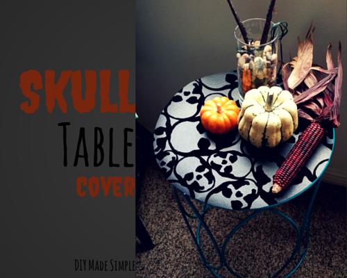 skull table runner
