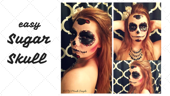 how to do a sugar skull face paint