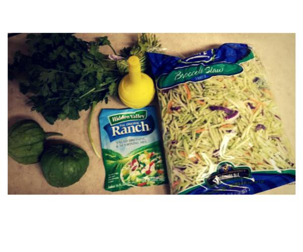easy cilantro ranch broccoli slaw
