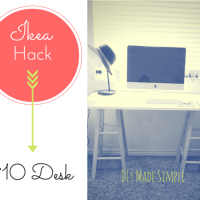 Ikea Hack: Desk For Only $10!