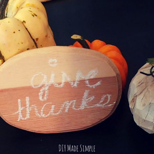 easy chalkboard craft