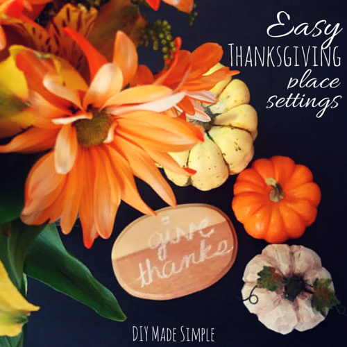 easy thanksgiving decoration