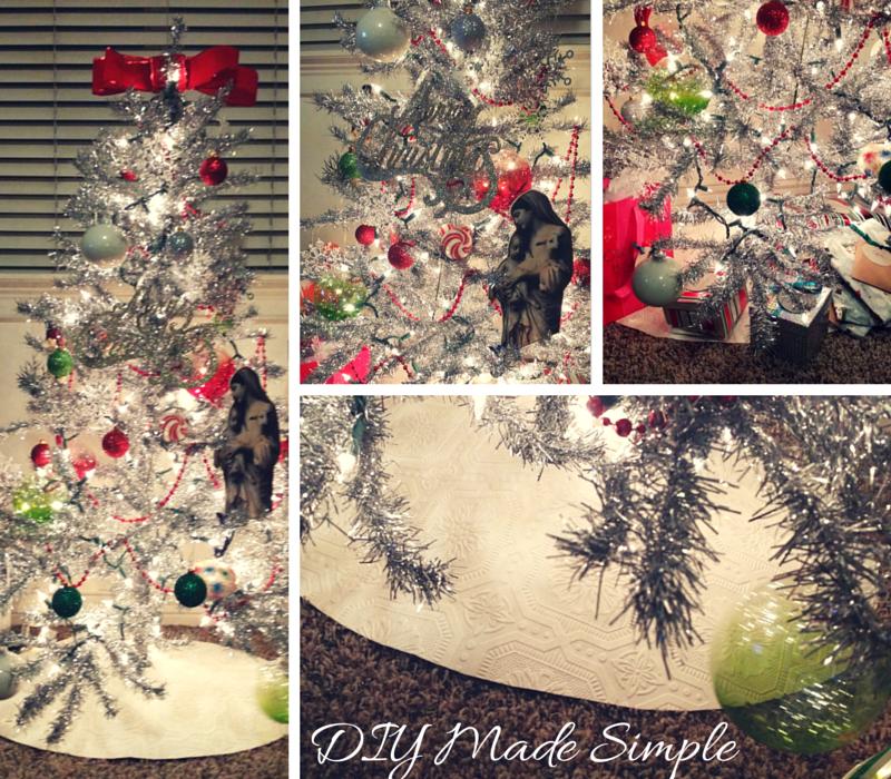 3 Minute, No Sew Christmas Tree Skirt | DIY Made Simple