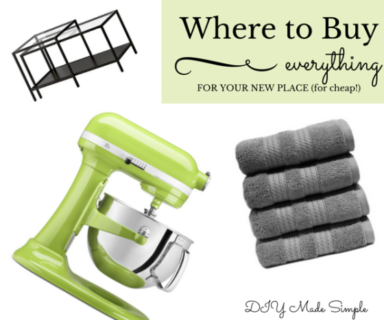 Where to Buy stuff for your new home