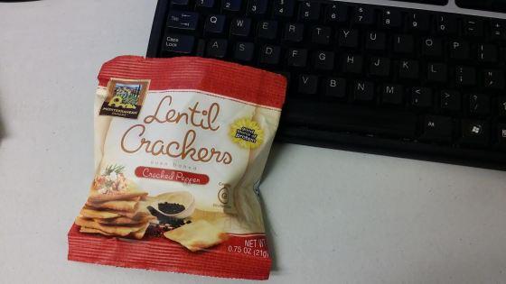 lentil crackers