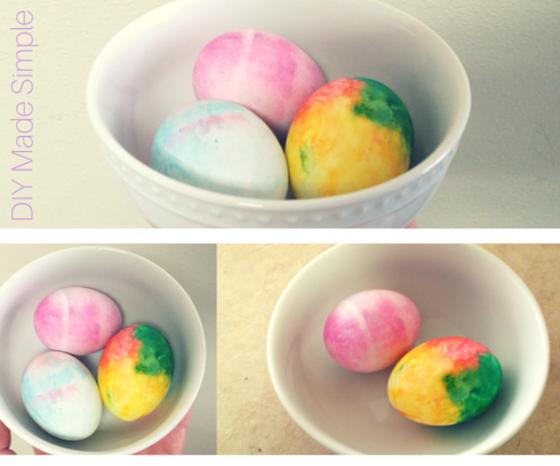 shaving cream dyed easter eggs