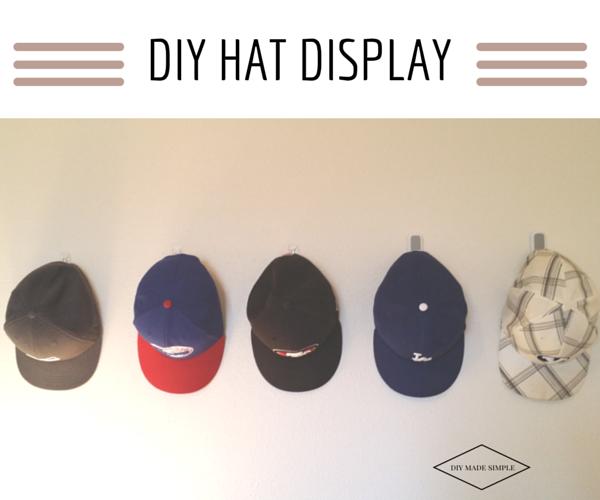 diy hat display