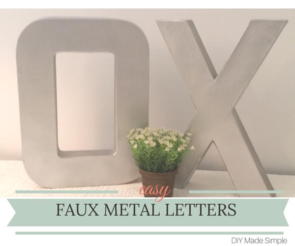 dit faux metal letters