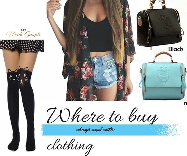 where to buy cute and cheap clothing