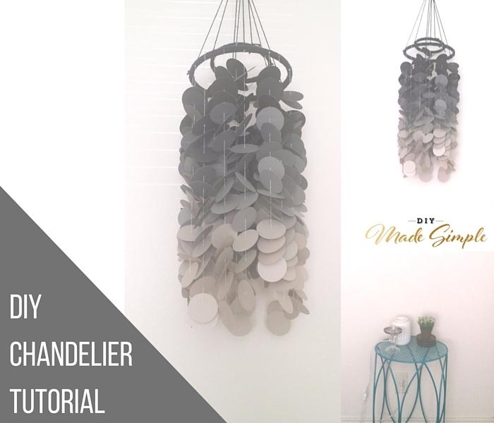 diy chandelier tutorial