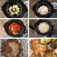 Easy Crockpot Lasagna W/ Zucchini Instead Of Noodles