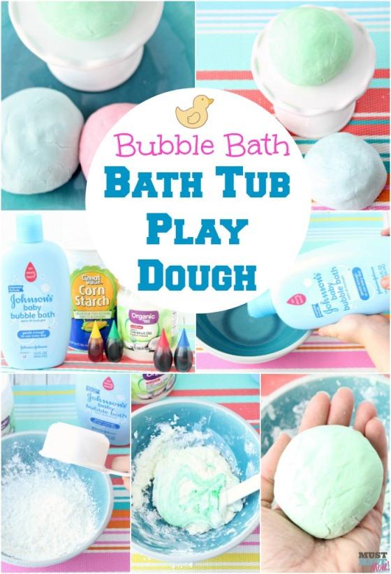 bubble bath play dough