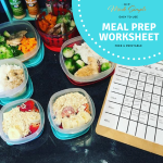 Free meal prep worksheet