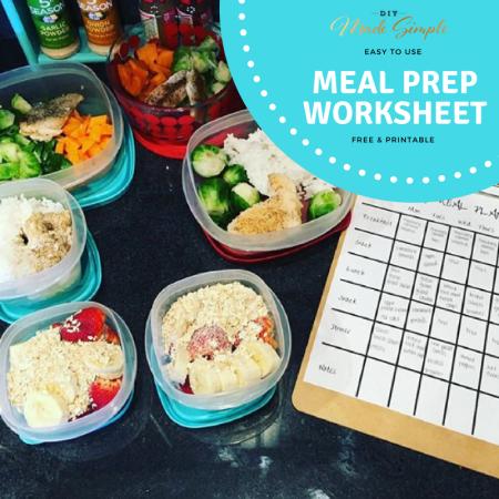 Free meal prep worksheet